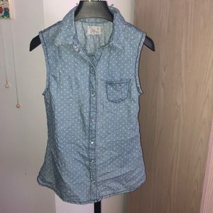 Tops - Polka dot vest top with buttons size small